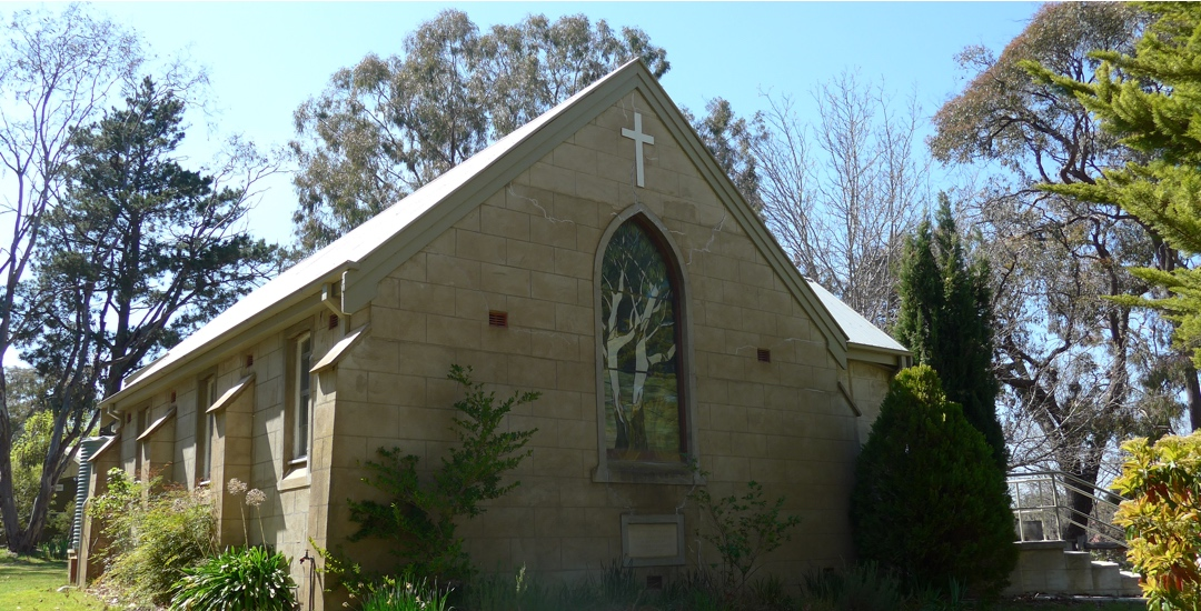 Image of St Michael and All the Angels Hall, ACT Side Front of Church