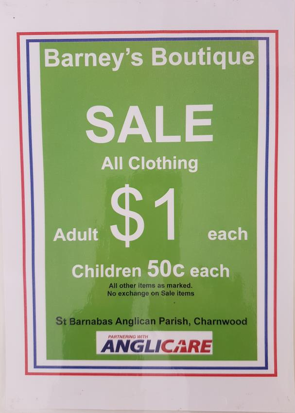 One dollar sale sign, Barneys Boutique