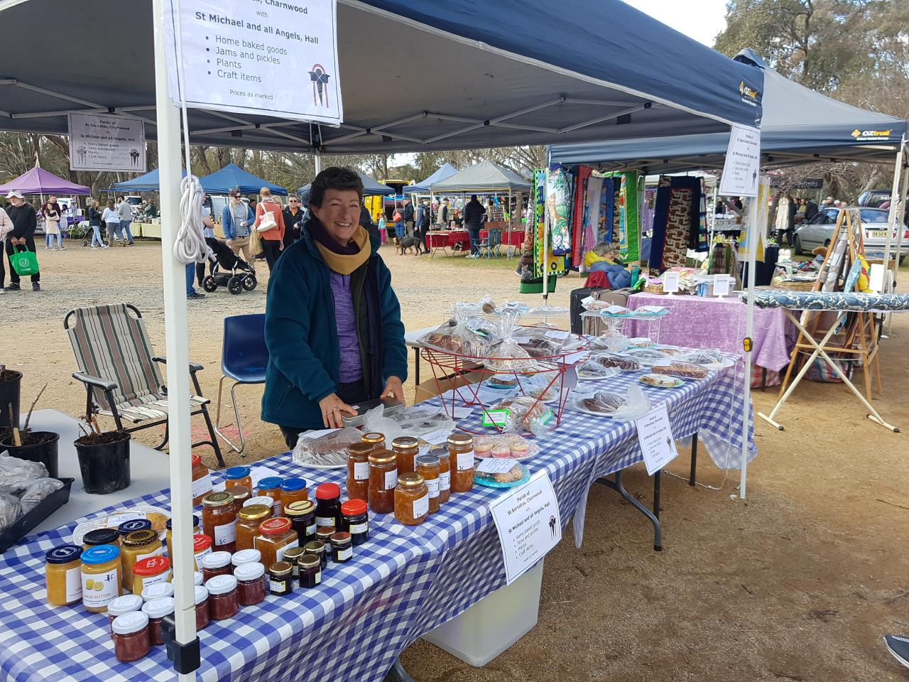 parish cakes stall at hartley hall markets 2 September 2018
