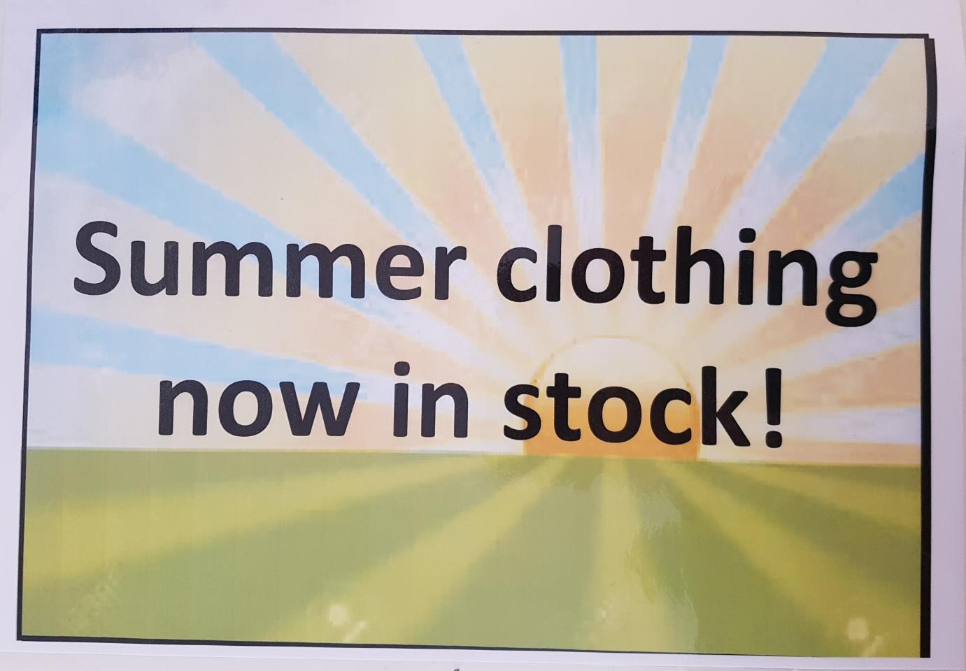 Summer clothes are out!  Barney's Boutique